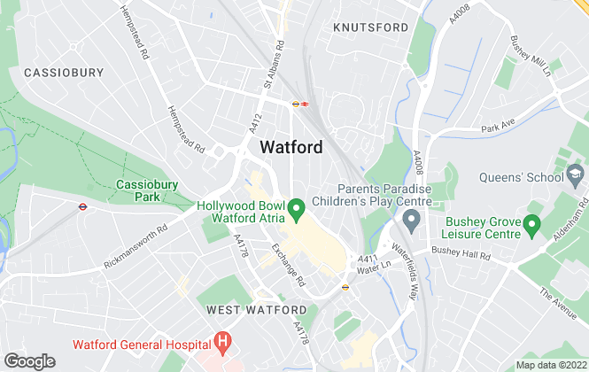 Map for Network Auctions, Watford