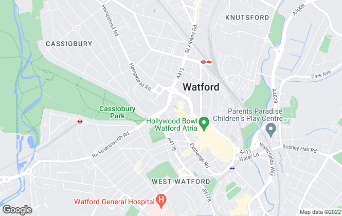 Map for Taylors Estate Agents, Watford