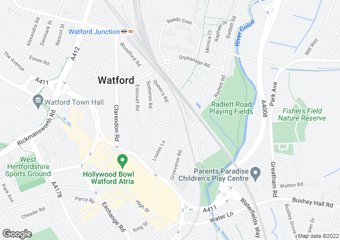 Map for Sutton Court, Queens Road, WATFORD, Hertfordshire