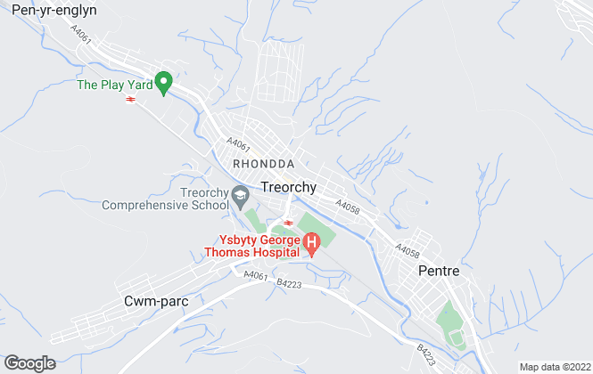 Map for Lanyons, Treorchy