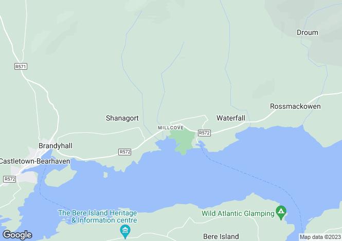 Map for 'Emohruo', Ballard, Millcove, Castletownbere, P75 FW27