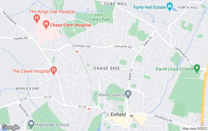Map for James Hayward, Enfield