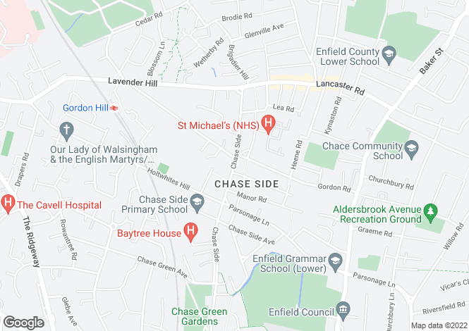 Map for Chase Side,
