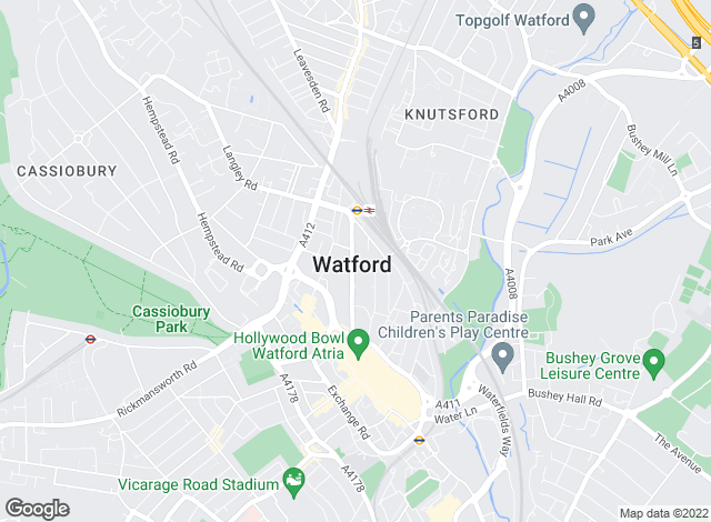 Map for Aitchisons, Watford