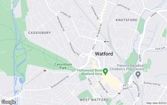 Map for Stimpsons, Watford