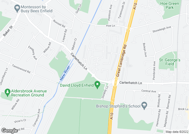 Map for Linwood Crescent, Enfield, Middlesex
