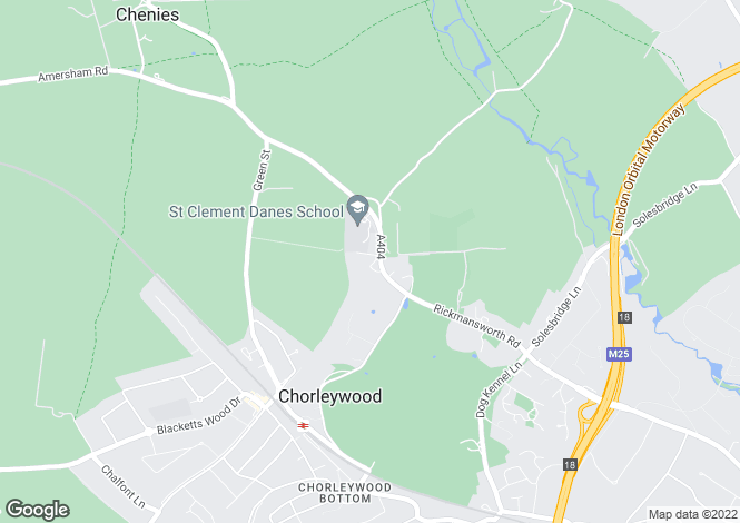 Map for Chenies Road, Chorleywood