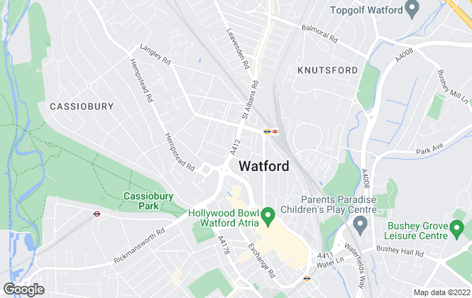 Map for Bravo Management (Watford) Limited (67757)