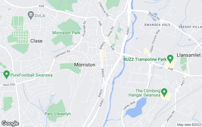 Map for Peter Alan, Morriston