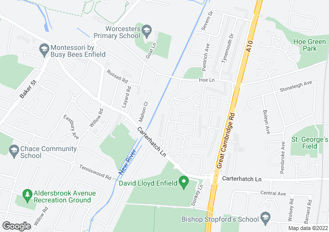 Map for MELLING DRIVE, Enfield