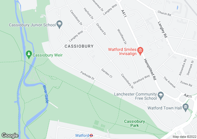 Map for The Gardens, Watford, Herts, WD17