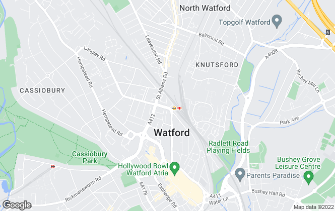 Map for Salters Residential, Watford