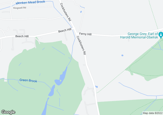 Map for Cockfosters Road, Hadley Wood