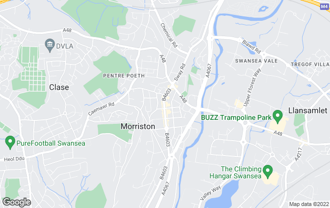 Map for Peter Alan, Morriston - Lettings