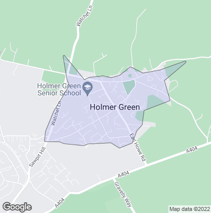 Map of property in Holmer Green