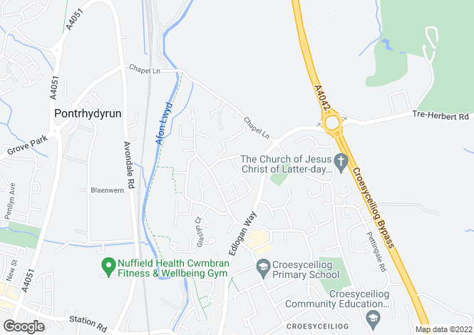 Map for Chepstow Close, Croesyceiliog, Cwmbran