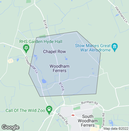 Map of property in Woodham Ferrers