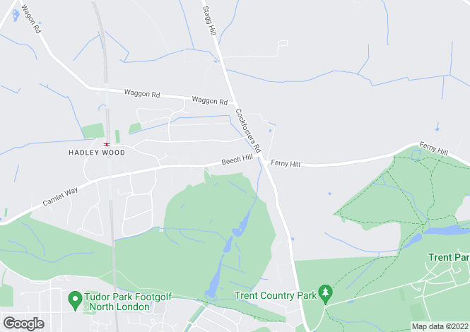 Map for Beech Hill, Hadley Wood