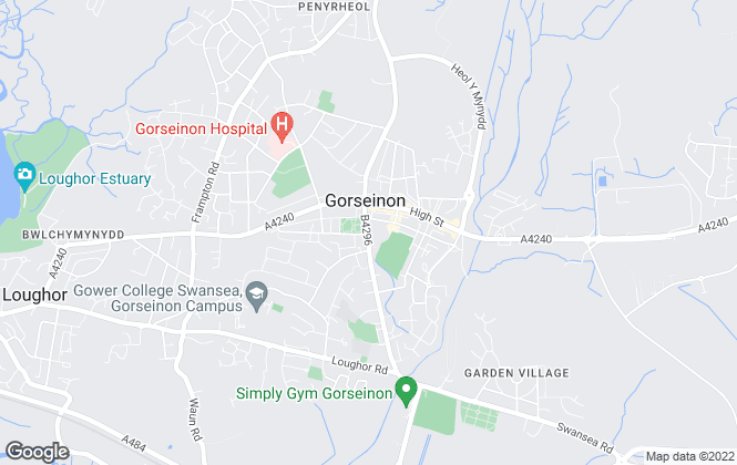 Map for Peter Alan, Gorseinon - Lettings