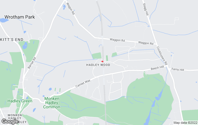 Map for Statons, Hadley Wood