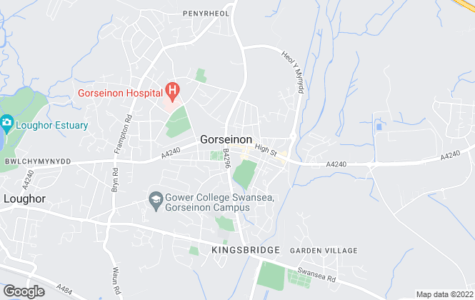 Map for John Francis, Gorseinon