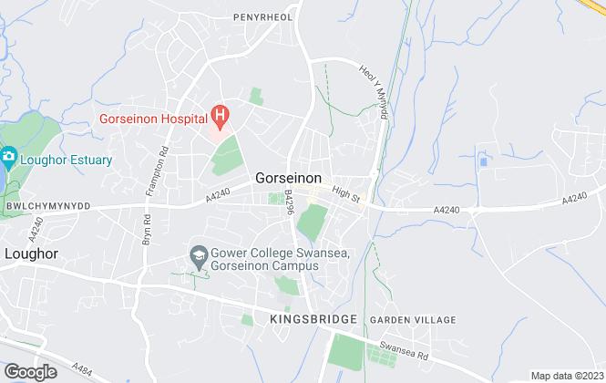Map for John Francis, Gorseinon