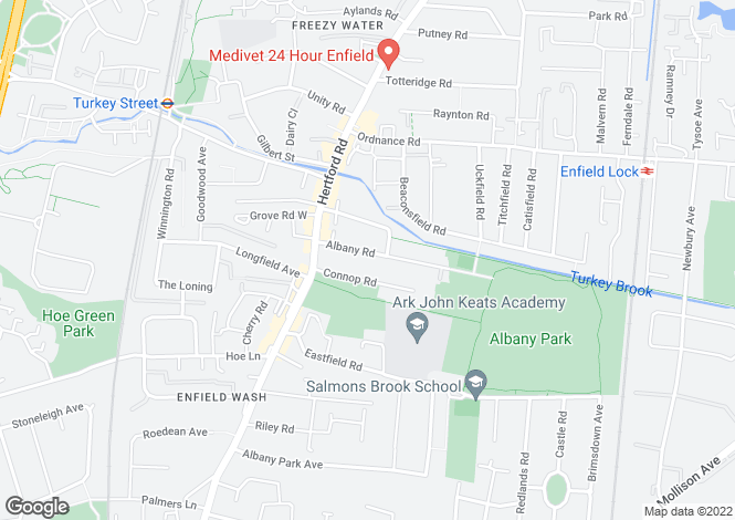 Map for Albany Road,