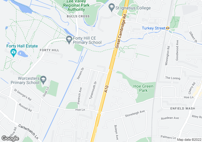 Map for Severn Drive, ENFIELD, Middlesex