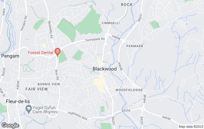 Map for Parkmans, Blackwood