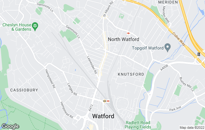 Map for Coopers Estate Agents, Watford