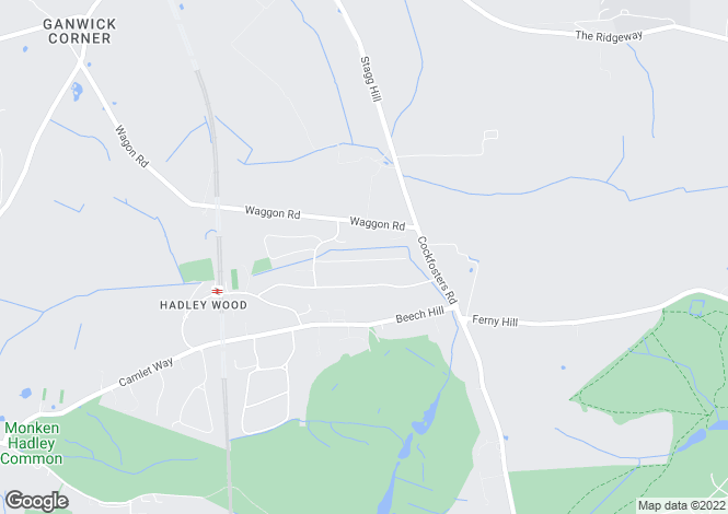 Map for Kingwell Road, Hadley Wood