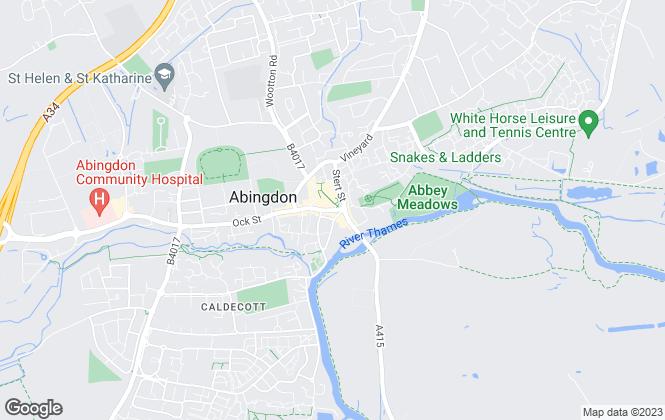 Map for Allen & Harris, Abingdon