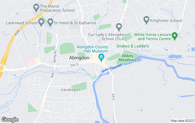 Map for Connells Lettings, Abingdon