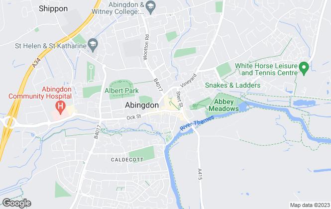 Map for Oliver James, Abingdon, Oxfordshire - Resale