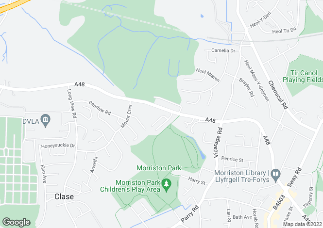 Map for 121 Clasemont Road, Morriston, Swansea