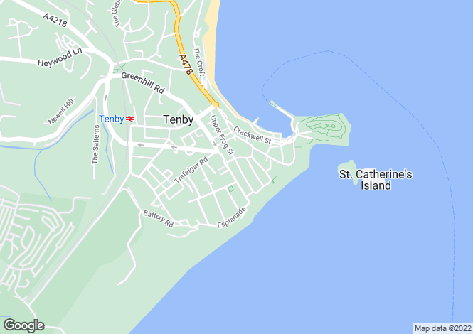 Map for Tenby