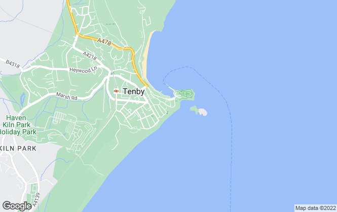 Map for Advance Properties, Tenby