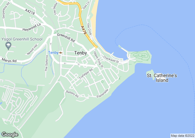 Map for St Teresas Guest House & Restaurant, South Parade, Pembrokeshire, Tenby