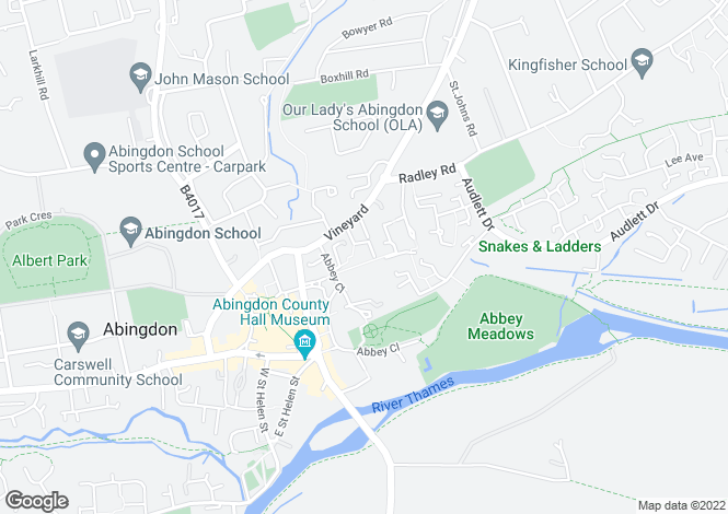 Map for Quakers Court Abingdon