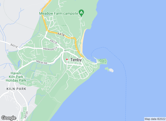 Map for Chandler Rogers, Tenby