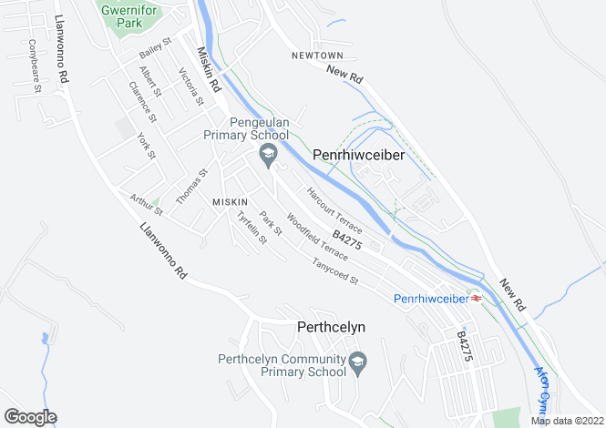 Map for Penrhiwceiber Road, Penrhiwceiber