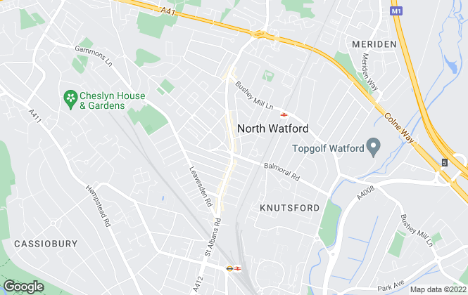 Map for Northwood, Watford