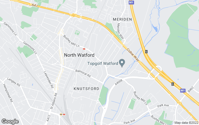 Map for Fairfield Estate Agents, Watford