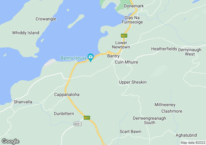 Map for Dromleigh North, Bantry,   West Cork
