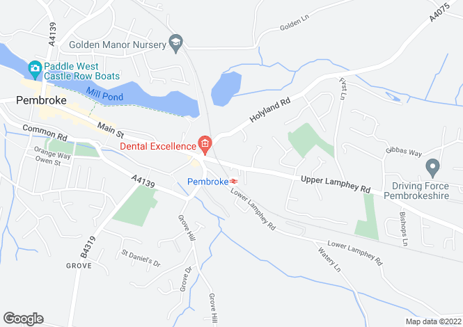 Map for 68 Station Road, Pembroke