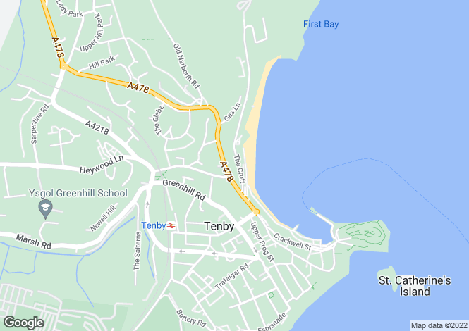 Map for The Croft, Tenby
