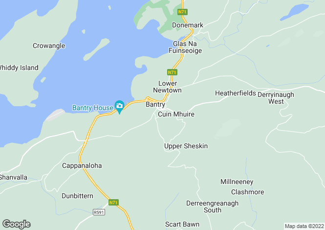 Map for 10 Rock Villas, Bantry,   Cork West