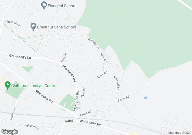 Map for Roundwood Road, AMERSHAM