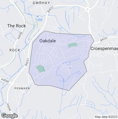 Map of property in Oakdale