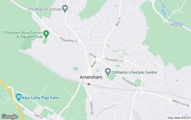 Map for Hydegate Estates, Amersham